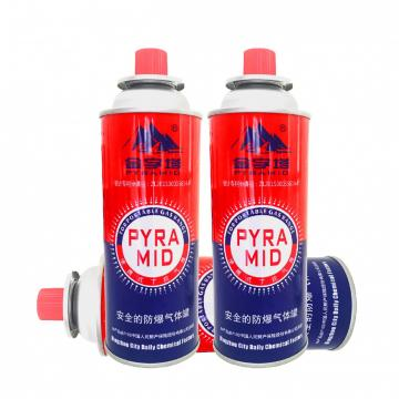 227g Round Shape Camping Refill Butane Gas Cartridge