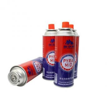 Professional Butane gas spray aerosol can butane gas camping gas cartridge