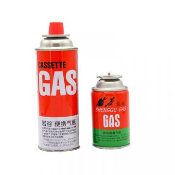 Industrial portable Butane gas cartridge 220g for barbecue in the wild