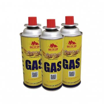 Camping butane gas cartridge with filled butane gas 400ml 227g