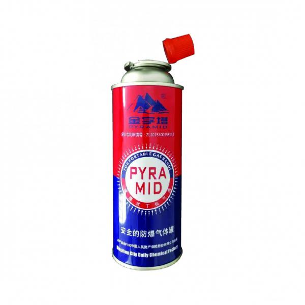 227g Round Shape Portable Empty butane gas canister #1 image